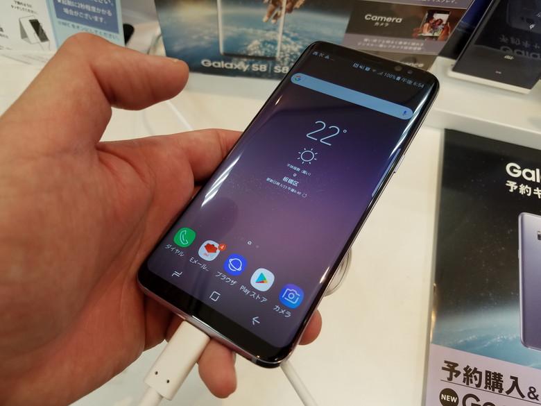 Galaxy S8 店頭ホットモック