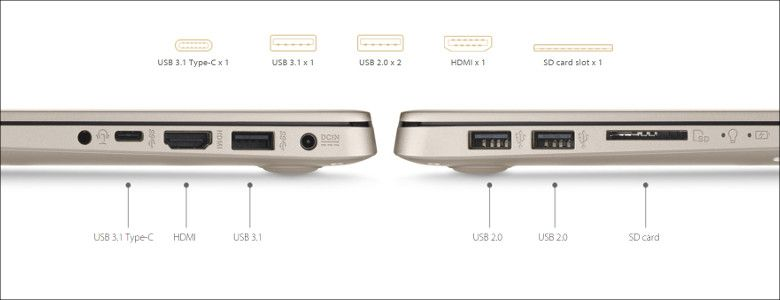 ASUS VivoBook S15 S510UQ 入出力ポート