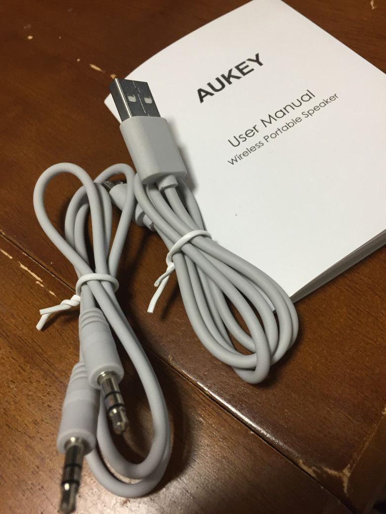 AUKEY Bluetooth スピーカー SK-S1 同梱物