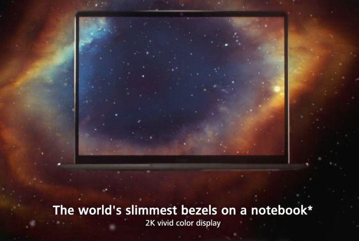 HUAWEI MateBook X ベゼル