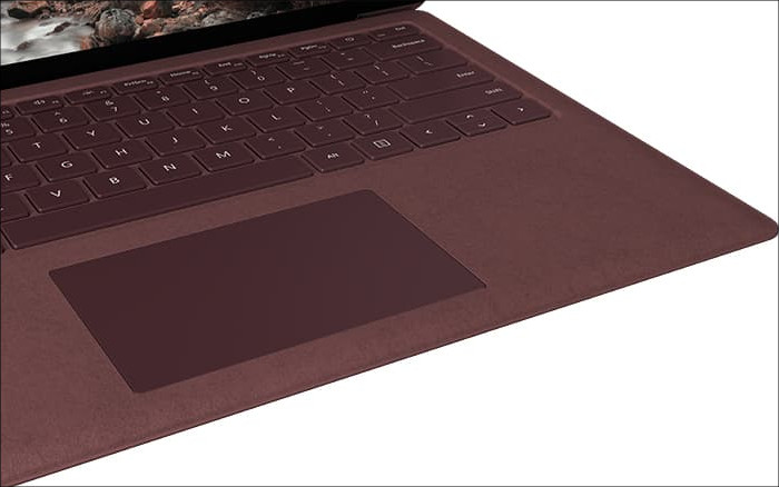 Microsoft Surface Laptop キーボード拡大