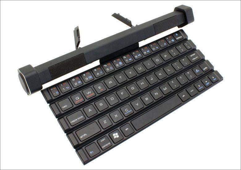 上海問屋 スピーカーごとクルクル巻けるキーボード(914757)