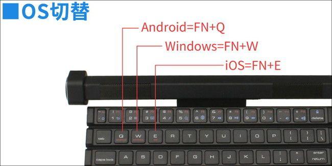 上海問屋 スピーカーごとクルクル巻けるキーボード(914757) OS切り替え