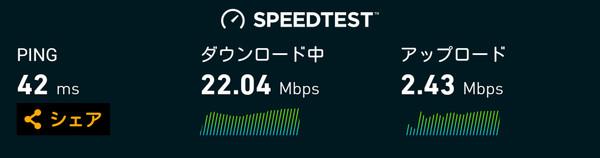 mineo スピードテスト1
