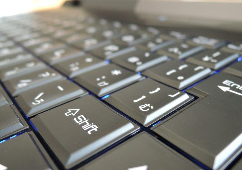 マウス NEXTGEAR-NOTE i7901 キーボード拡大