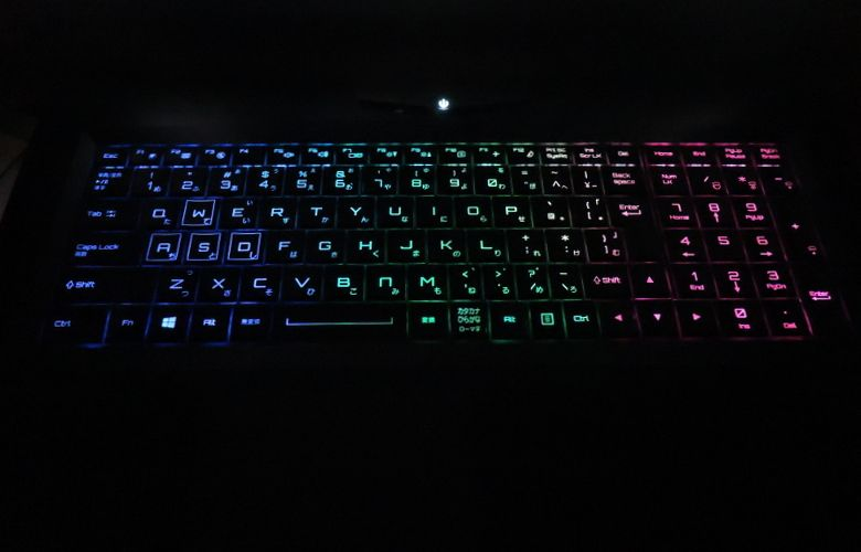 マウス NEXTGEAR-NOTE i7901 キーボードバックライト