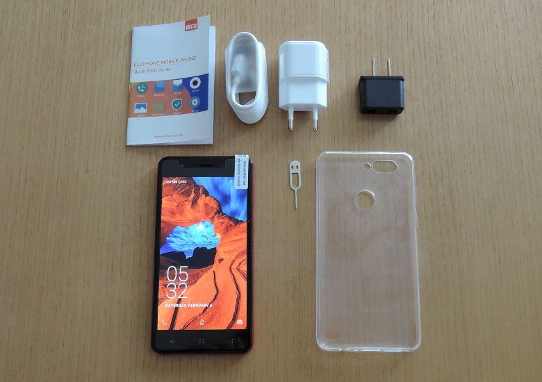Elephone P8 Mini 同梱物