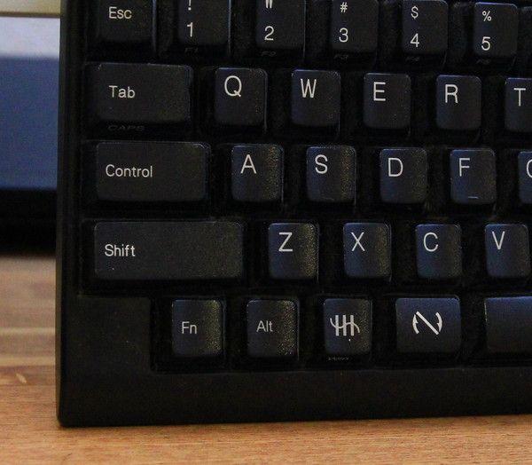 Happy Hacking Keyboard 特徴的な配列