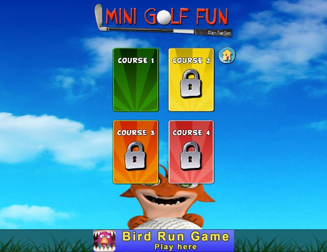 Mini Golf Fun - Crazy Tom Shot コース選択