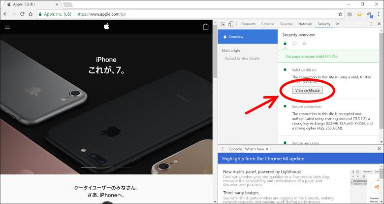 サイトの証明書 Chrome4