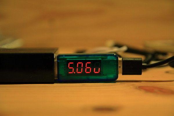 DAISO モバイルバッテリー(ふんぼ)ケーブルのテスト1
