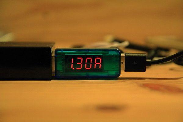 DAISO モバイルバッテリー(ふんぼ)ケーブルのテスト2