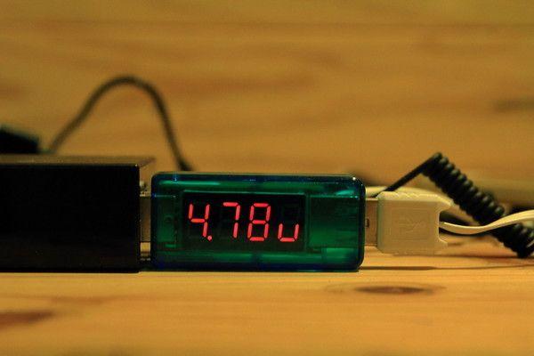 DAISO モバイルバッテリー(ふんぼ)充電テスト1