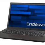 EPSON Endeavor NJ6100E ー 15.6インチ、デスクトップ用CPUを搭載した高性能なスタンダードノート