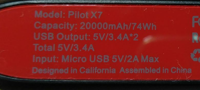 Poweradd Pilot X7
