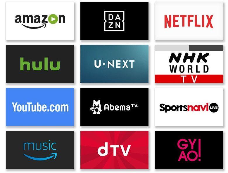 Amazon Fire TV 対応アプリ