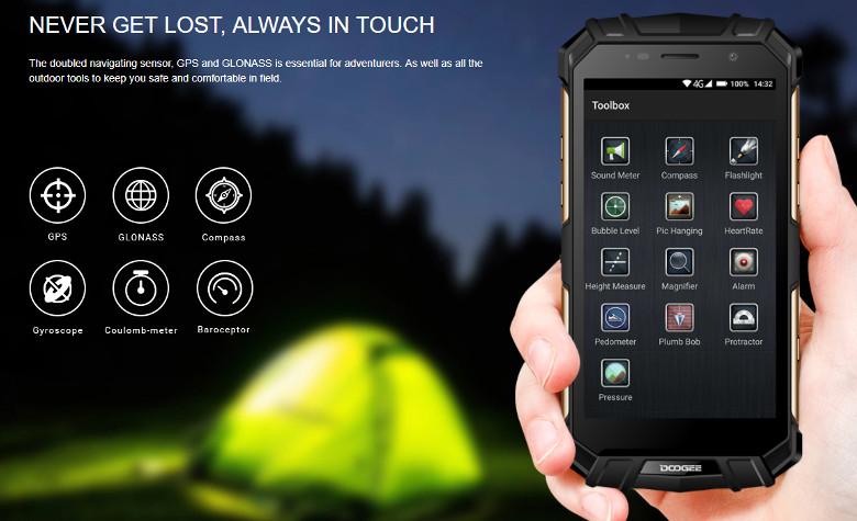 DOOGEE S60 アプリとセンサー
