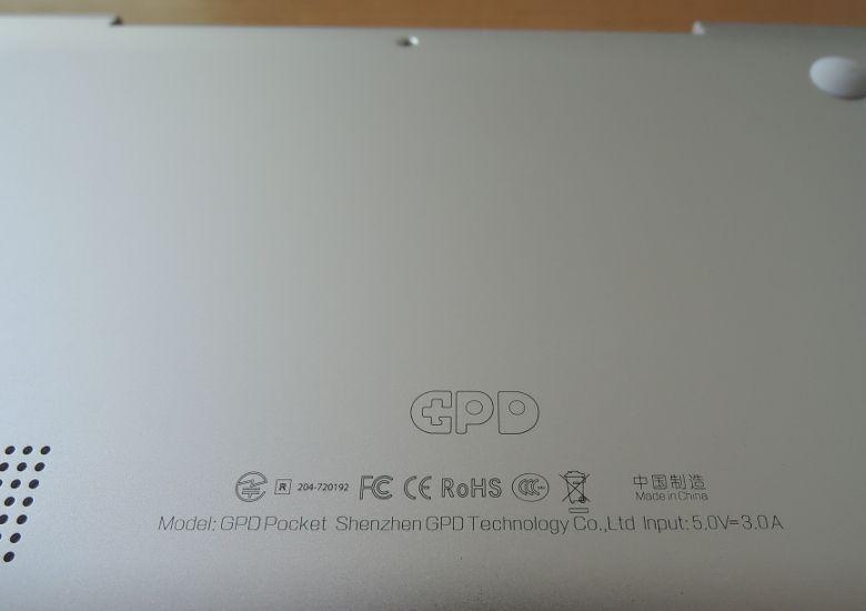 GPD Pocket 技適マーク