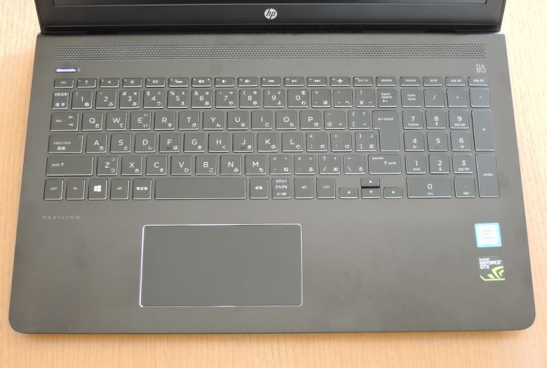 HP Pavilion Power 15 キーボード