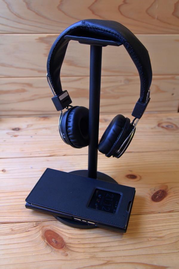 OXOQO 多機能ヘッドホンスタンド ヘッドフォンとスマホ