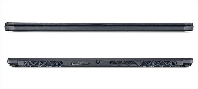 Acer Predator Triton700 前後面