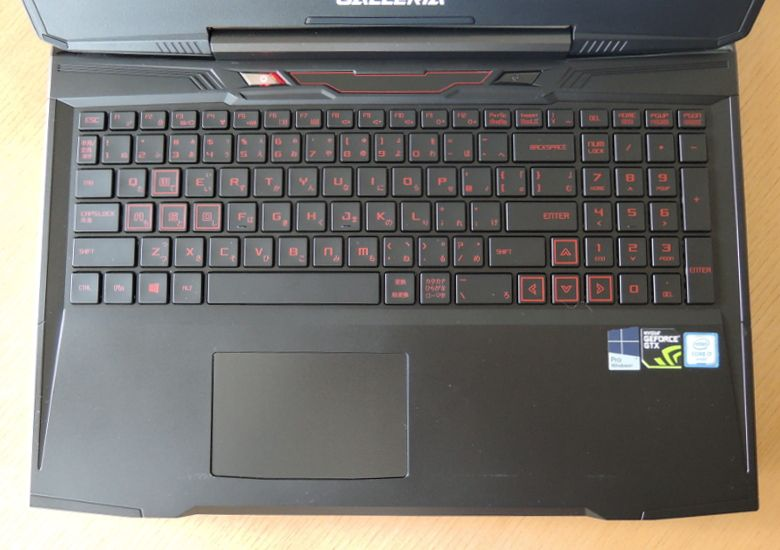 ドスパラ GALLERIA QSF960HE2 キーボード