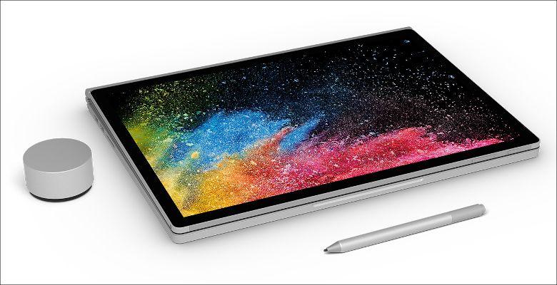 Microsoft Surface Book 2 タブレットモード
