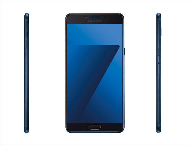SAMSUNG Galaxy C7 Pro 側面
