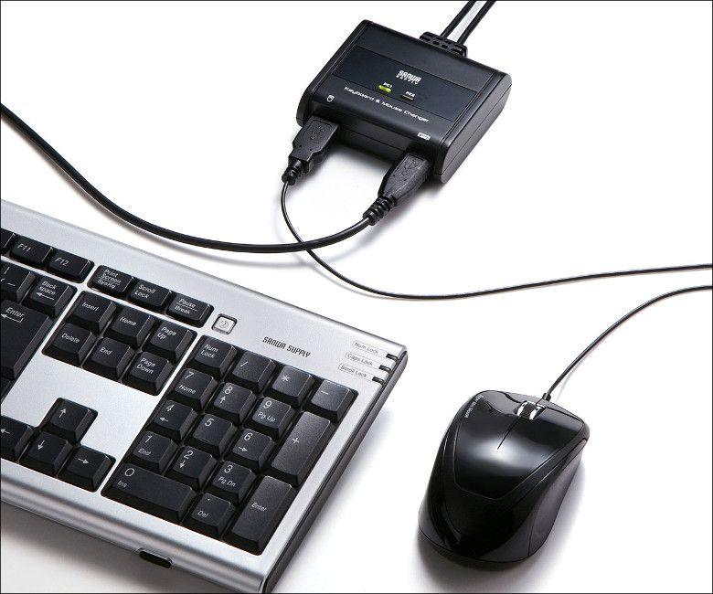 サンワサプライ キーボード・マウス用パソコン切替器 SW-KM2UU 接続
