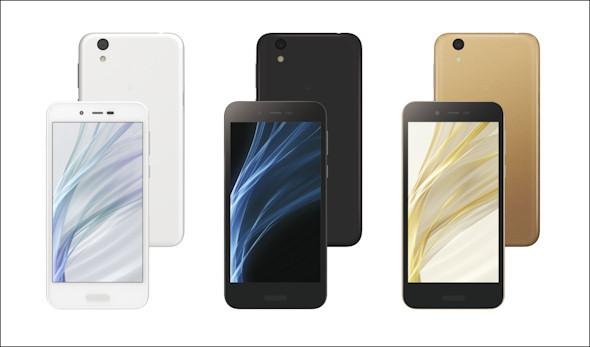 SIMフリー版はホワイト、ブラック、ゴールドの3色が用意される