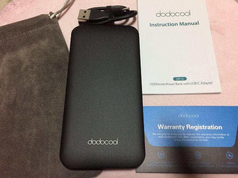dodocool 10000mAhモバイルバッテリー 同梱物