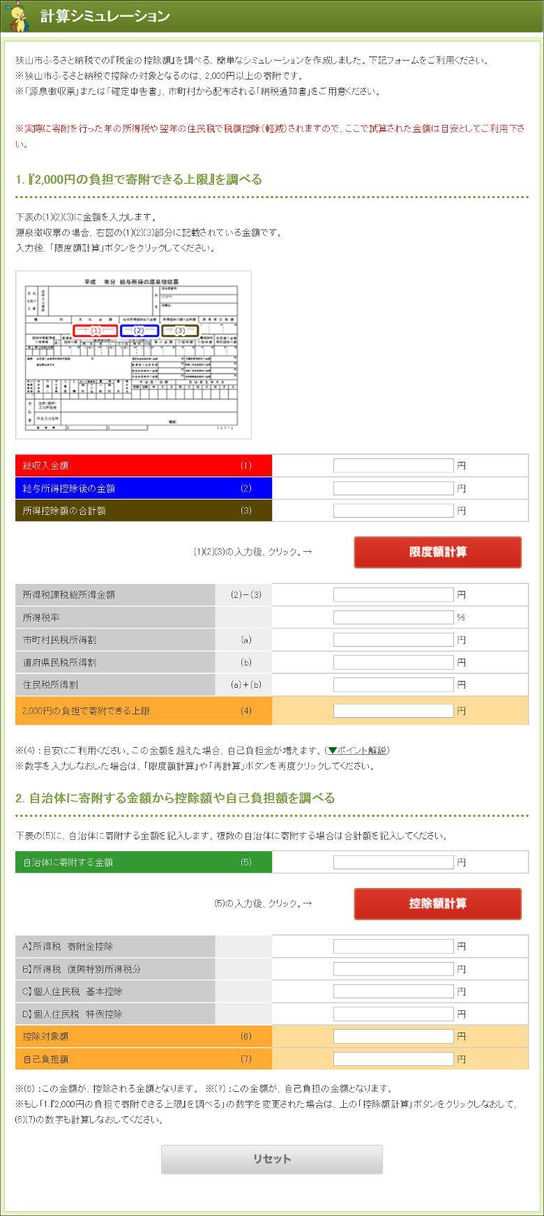 ふるさと納税2017 狭山市
