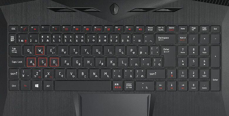 マウス NEXTGEAR-NOTE i5550 キーボード拡大