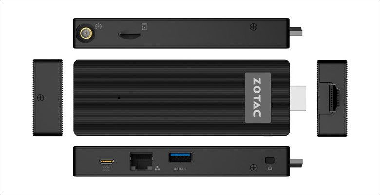 ZOTAC ZBOX PI223 各部名称