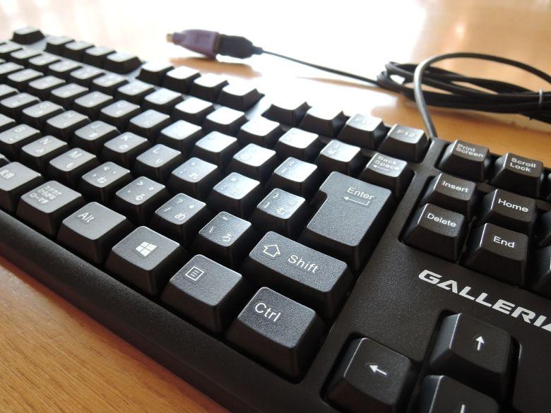 ドスパラ GALLERIA Mini 1060 キーボード拡大