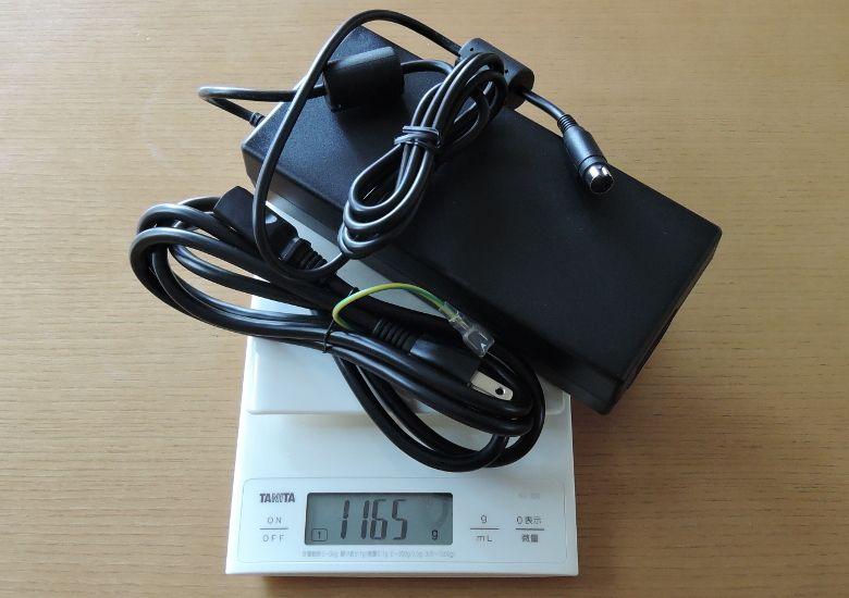 ドスパラ GALLERIA Mini 1060 ACアダプターの重量