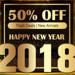 セール情報 - geekbuyingで「Happy New Year 2018」セールがスタート!割引クーポンもあるよ!