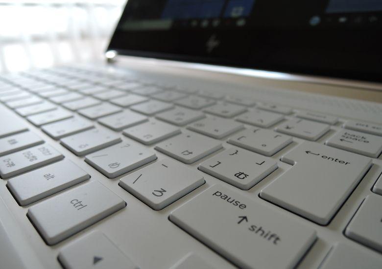 HP Spectre 13(2017年11月モデル)キーボード拡大