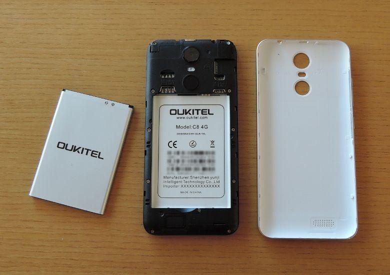 OUKITEL C8 4G ケース開口