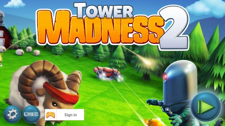 TowerMadness 2 ホーム画面