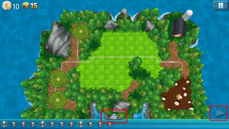TowerMadness 2 初期画面