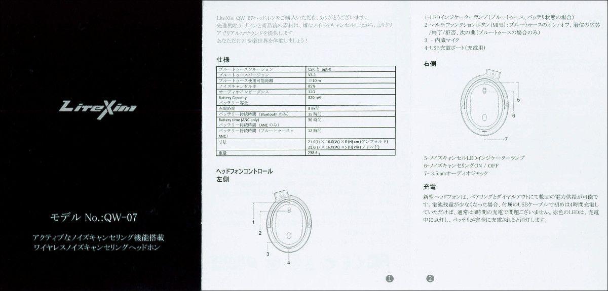 LiteXim QW-07 取説 表