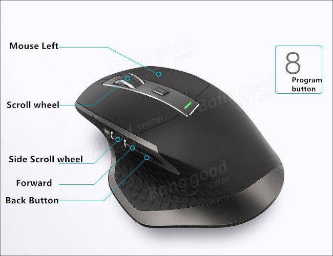 Rapoo MT750 ボタン類