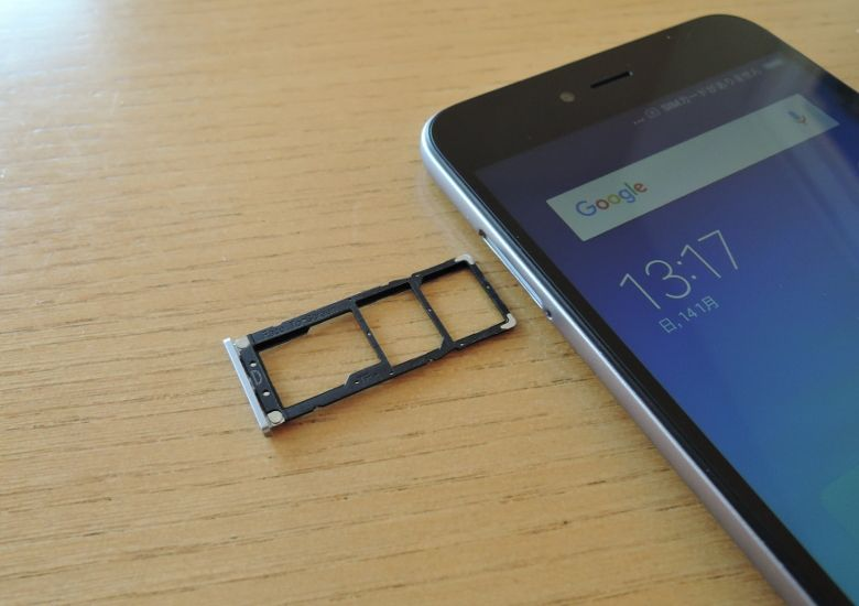 Xiaomi Redmi Note 5A SIMスロット
