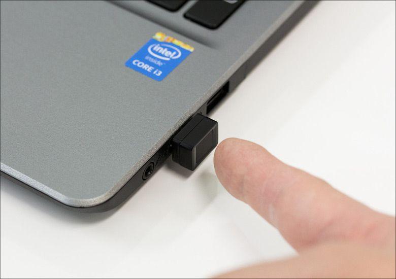 上海問屋 USB指紋認証リーダー ノートPC用
