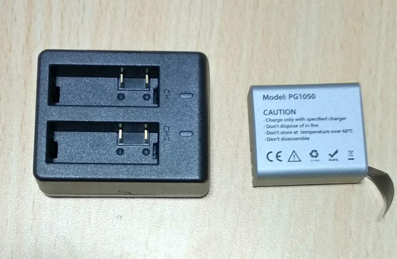 EKEN H6s EIS 4K+ アクションカメラ スペアバッテリー