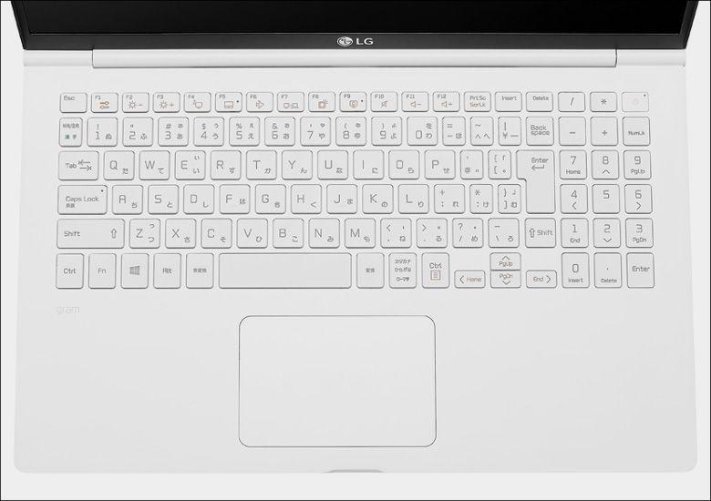 LG gram(2018)キーボード15.6