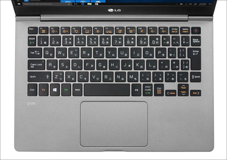LG gram(2018)キーボード13.3