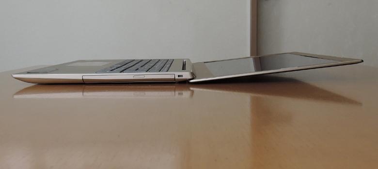 Lenovo ideapad 520 ヒンジ最大開口