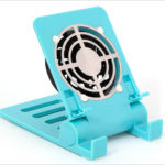 上海問屋 スマホ・タブレット用 スタンド型 USB冷却ファン - 暑い時期の熱対策に!扇風機としても使えるかも?
